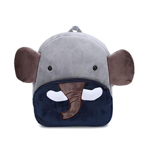 Zaino Asilo Bimba Animali Cartoon Mini Nido Peluche Bambini nimato Carino per bambina bambino 1-3 anni Cute Backpack-Elefante
