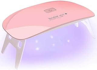 6W Uv Lamp Nails Dryers with 2 Timers, Mini Uv Led Nail Lamp Resin Curing Light 6 Led Gel Polish Light Portable Small Uv Lights for Gel Nails and Regular Polish Fingernail Art (Pink)