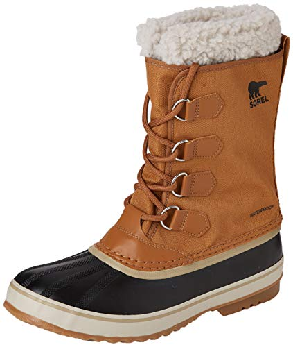 Sorel - Men's 1964 Pac Nylon Snow Boot for Winter, Camel Brown, Black, 9 M US