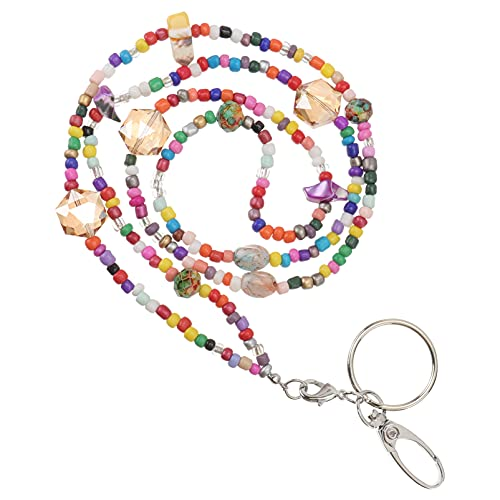 Generic Collar de Identificación con Cuentas Colorido Cordón ID Collar Nombre Insignia Titular Clavícula Accesorio DIY Cadena Colgante