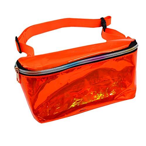 Buddy Gürteltasche, holografisch, transparent, metallisch, glitzernd, für Reisen und Sport, Orange (Orange) - bb-01565-01P