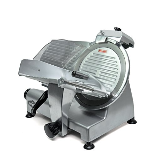 "KWS Commercial 420w Electric Meat Slicer 12"" Frozen Meat Deli Slicer Coffee Shop/restaurant and Home Use Low Noises (Stainless Steel Blade-Silver)"