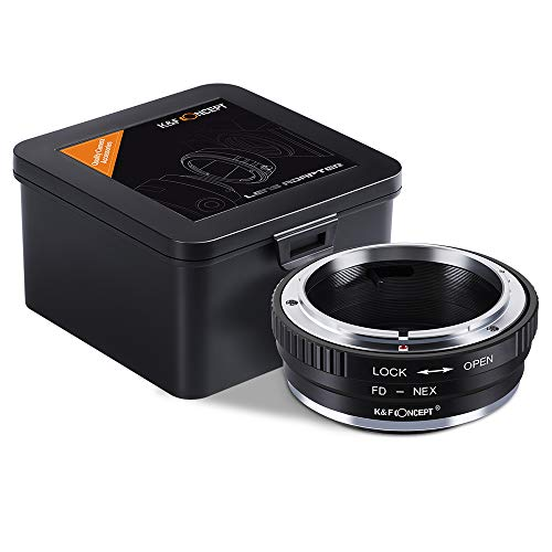 K&F FD-NEX Objektivadapter Canon FD Adapterring für Canon FD Objektiv auf Sony Alpha NEX E-Mount Kamera