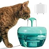 Atlantis X - Fontaine à Eau pour Chats et Chiens by Queen & Hunter - Distributeur d'eau Silencieux - Hydratation hygiénique - Filtre Efficace à 99,9 % - 1,5 litres - sans BPA - Mode Cascade
