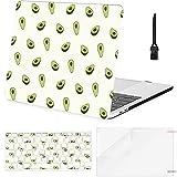 Carcasa rígida de plástico con Cubierta de Teclado para Macbook Pro de 15 Pulgadas Estuche Fruta de Dibujos Animados de Aguacate Compatible con Macbook Air 11'13' Pro 13'15' 16'2008-2020 Ver