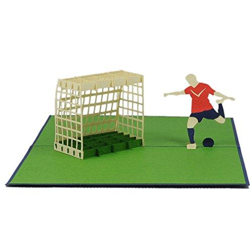 Favour Pop Up Grusskarte - Fussballspieler. Aufwändige Handarbeit und ausgefeilte Lasertechnik schaffen auf kleinstem Raum ein filigranes Kunstwerk. TF003