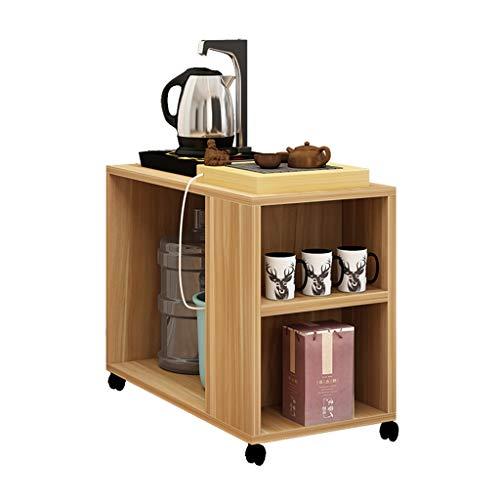 Tables basses Chariot à thé Petite Mobile canapé Table de Chevet Armoire latérale Table de Chevet de Chambre (Color : Brown, Size : 60 * 30 * 59cm)