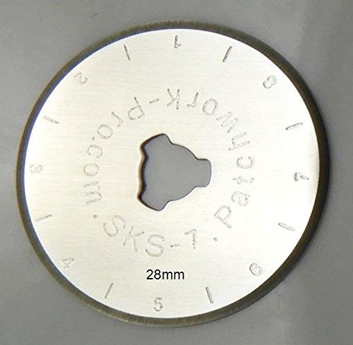Patchwork-Pro Ersatzklingen 5X Klingen 28mm 28 mm Marke, Deutscher Klingen-Stahl für Rollschneider Rollmesser Rotary Blade Patchwork Quilt