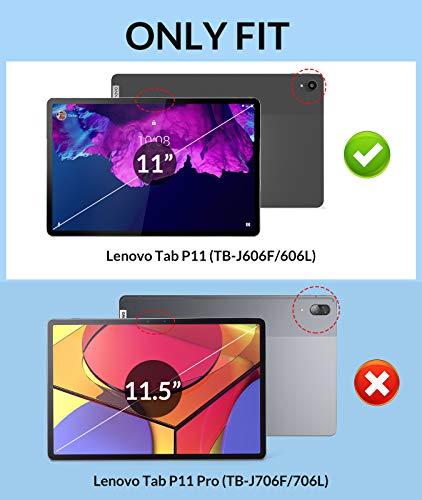 MoKo Hülle Kompatibel mit Lenovo Tab P11 11-inch 2020 Model (TB-J606F/J606X), Tablet Schutzhülle Magnetisch Befestigung Ladung für mit Auto Wake/Sleep Kompatibel mit Lenovo Tab P11 2020, Grau