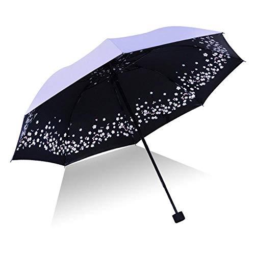 Parasol Parapluie Parapluie Pliant À Fleurs pour Femmes Parapluies Anti-Pluie UV Protection Contre Les Pluies Parasol Parasol Yd200071Pu