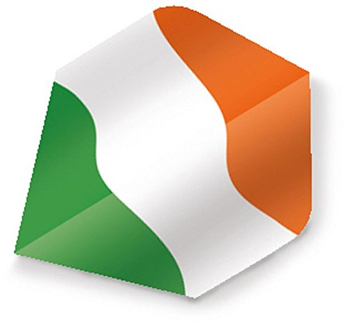 Unicorn Maestro 100 Dart Flights Motiv Flagge Irland B-Wing