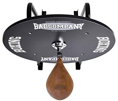Bad Company Speedball Plattform mit Vintage Leder Boxbirne medium zur Wandmontage I BCA-130