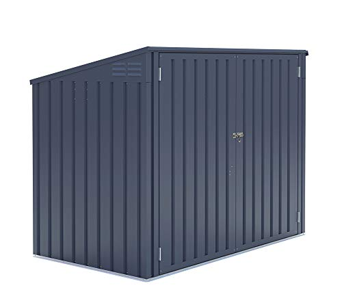 50NRTH Metallgerätebox und Mülltonnenbox 5x3 Anthrazit // 172x100x131 cm (BxTxH) // Aufbewahrungsbox und Gartengerätebox