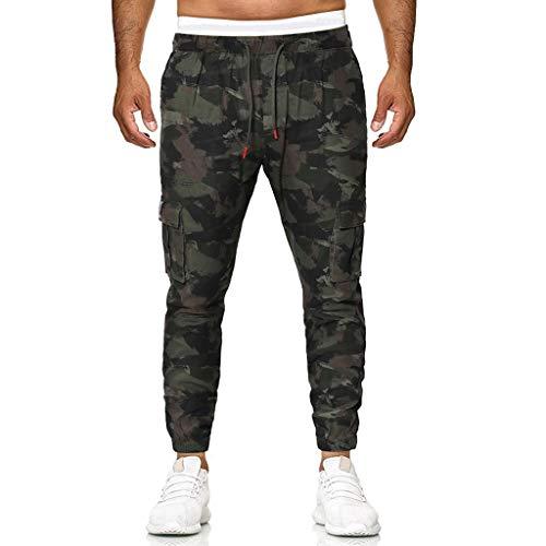 Aoogo Herren Camouflage Sporthose Männer Freizeithose Classics Trainingshose Sweatpants Lässige Elastische Jogginghose Sport Baggy Pockets Hosen