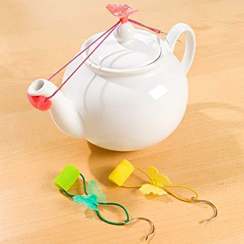 3 Stück Tropfenfänger für Teekanne Kaffeekanne Tropfschutz Schmetterling