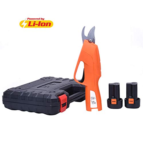 Pixier elektrische snoeischaar, 2 stuks, lithium batterij, oplaadbaar, 21 V, 2 Ah, professioneel, draadloos, snijdiameter 15 m