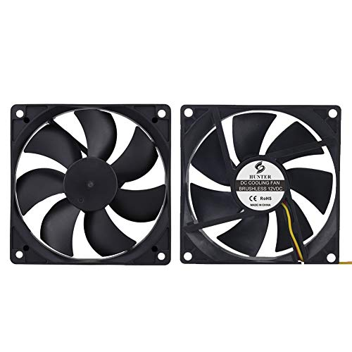 2-Pack 120mm 120mm x 120mm x 25mm 12V 3-Pin CPU Industrial Server Case Replacement Cooling Fan