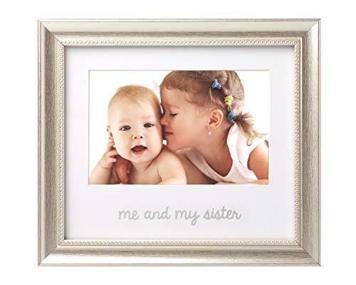 Lil Peach Me and My Sister Keepsake Frame, Display Sibling Love, Big Brother Big Sister Gifts, Silver