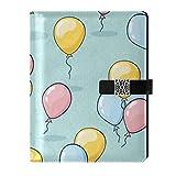 Cuaderno de escritura de cuero para diario, bloc de notas, decoración de globo de viaje, rellenable interior, A5, carpeta de anillas – Cuaderno de tapa dura, regalos para hombres y mujeres