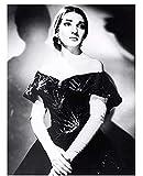 FGVB Maria Callas Opera Singer Schwarz Weiß Portrait Nofl