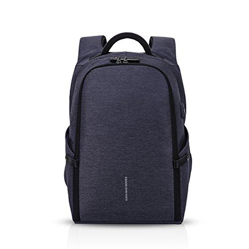 FANDARE Moda Zaino 15,6 pollici Laptop con Porta USB Fixed Band Uomo Rucksack Impermeabile Zainetto Outdoor Viaggio Camping Multifunzione Backpack Poliestere Blu