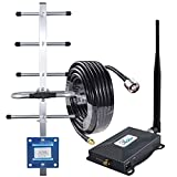 Cell Phone Signal Boosters 850Mhz Band 5 Signal Booster AT&T Verizon Cricket Cell Booster AT&T Cell Phone Booster 3G 4G LTE Extender Cell Repeater for Home/Remote Area Antenna Cover 3000sqft Call/Data