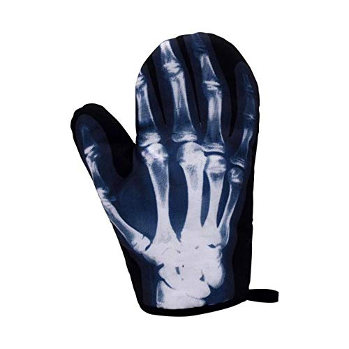 Houer 1 Stuks Antislip Katoen Ovenwant Keuken Koken Magnetron Handschoenen Bakken BBQ Pannenlappen Ovenwanten, B