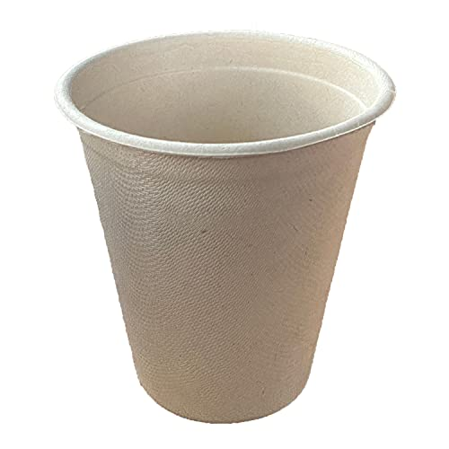 E-DEPENDER 50 X 12oz   No Plastic   Beverage Cups Made from 100% Sugar Cane Fibre   Environmentally Friendly Disposable Cups   50 Pieces Coffee-to-go Cups Basic Colour Unbleached 340 ml 12 oz
