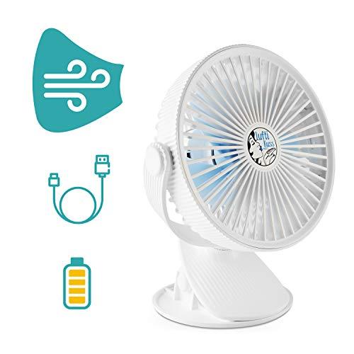 5 Velocidades Ajustables y 2 Modos de Humidificaci/ón amzdeal Mini Aire Acondicionado Port/átil Air Cooler 2 en 1 USB Ventilador de Aire y Humidificador Carga USB de Bater/ía de 2000 mAh