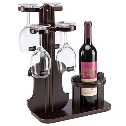 XFPINK-Goblet holder Soporte para Copas de Vino, de Madera Maciza Continua, para salón de Vino, con mostrador Independiente de Copas de Vino, Vitrina