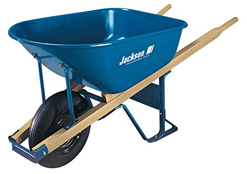Jackson 6-Cubic Foot Steel Contractor Wheelbarrow - M6T22