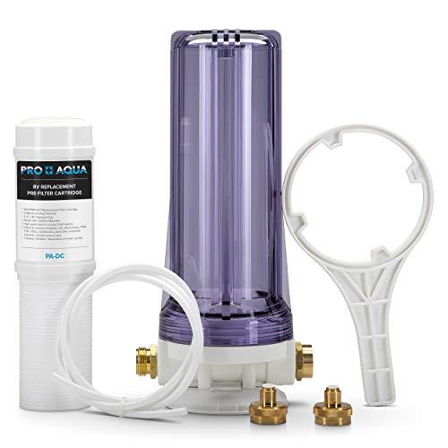 Premium Dual RV/Marine Water Softener Regeneration Kit and Water Filter, Reduces Bad Taste, Odor, Sediment, Chlorine