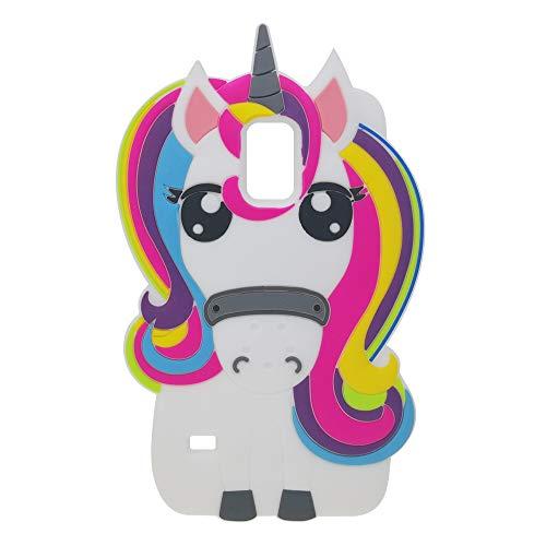 BJTRADE Funda Samsung Galaxy S5, Divertidas 3D Unicornio de Silicona Suave Animales Carcasa Antichoque Protección Anti-rasguños Resistente Bumper Fundas Case Cover para Galaxy S5 (Colorido)
