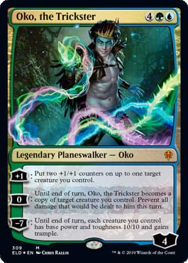 Magic: The Gathering - Oko, The Trickster - Foil Planeswalker Deck Exclusive - Throne of Eldraine