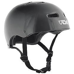 TSG Helm Skate BMX Colors Halbschalenhelm, injected black, L/XL