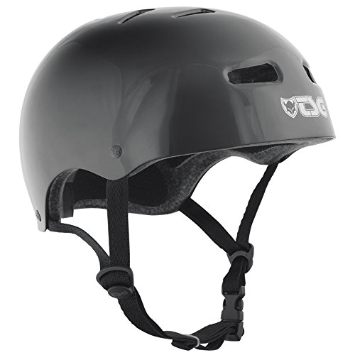 TSG Helm Skate BMX Injected Colors Solid Color, Unisex, Negro, S/M
