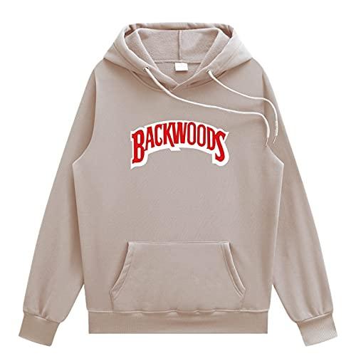 N\C Primavera Y Otoño Versión Clásica Diaria De Los Hombres Cómodos Backwoods Deportes Hip-Hop Suéter con Capucha XL