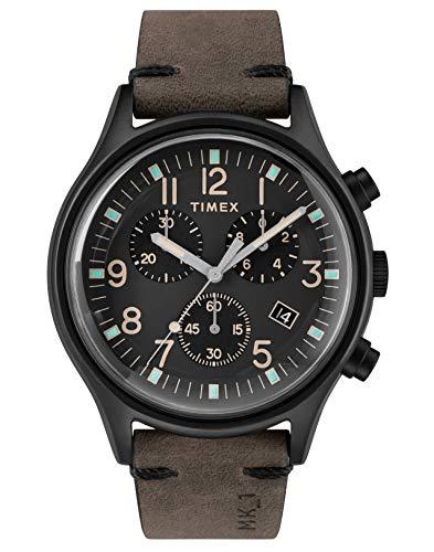 Timex Orologio Cronografo Quarzo Uomo con Cinturino in Pelle TW2R96500