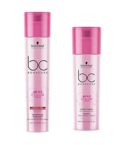 Schwarzkopf Bonacure pH 4.5 Color Freeze Vibrant Red Micellar Shampoo 250ml and Conditioner 200ml
