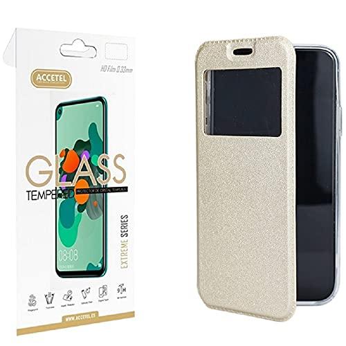 Juego 1 X Película de Vidro + Capa para Samsung Galaxy J7 2017 Gandy Dourado