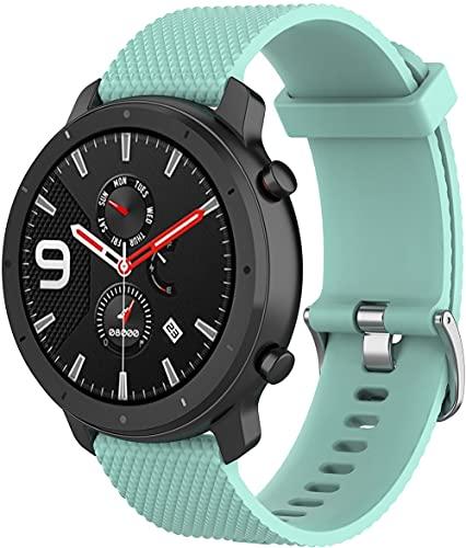 Gransho Correa de Reloj Compatible con Amazfit Bip/Bip Lite/Bip S/Bip U, Blando Silicona Narrow Delgada Deporte Reemplazo Pulsera (20mm, Pattern 4)