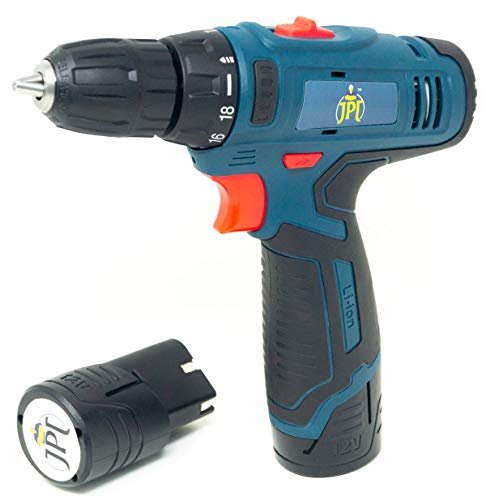JPT HEAVY DUTY 12V CORDLESS DRILL/SCREW DRIVER WITH 2 BATTERIES