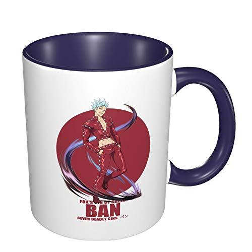 Vdaras Tazas de café Ban The Seven Deadly Sins tazas de café aptas para capuchino, té, cacao, cereales