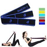 JJunLiM Fasce Elastiche per Esercizi Fasce Elastiche Latine 15-20 kg Pilates Fasce Elastiche per Yoga Resistenza Fitness Fasce Elastiche per Allenamento di Danza Ginnastica Allenamento (90cm Blue)
