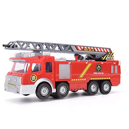 Zerodis Luftleiter Brandbekämpfung LKW Modell elektrisches Rettungsauto Fahrzeug Spielzeug mit leichtem Wasserspray Geschenk für Kinderkinder Jungen und Mädchen(A)
