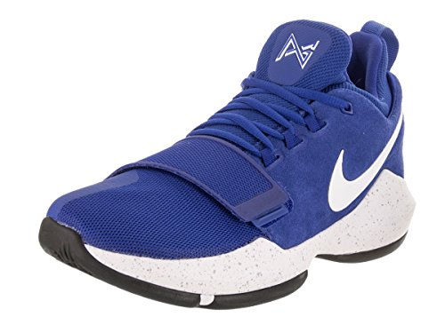 NIKE Mens Paul George 1 Basketball Sneakers (Game Royal/White-Black, Size 11.5 M US)