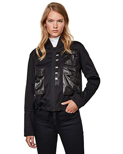 G-STAR RAW 3D Pocket Bomber Wmn chaqueta, Black/Dk C082-8299-Casco de Ciclismo, Color...