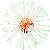Balacoo Adorno de Plantas de Coral Efecto Brillante de Silicona Artificial Plantas Acuáticas Decoración para El Paisaje del Acuario del Tanque de Peces