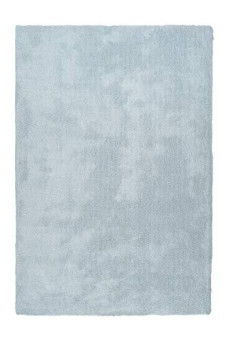Lalee Hochwertiger Luxusteppich mit sehr weicher Haptik, Pastellblau, 120 x 170 cm