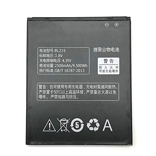 Battery Compatible Lenovo BL219 for Lenovo A768T, A850+, A889, A916,S856, 2500mAh, Bulk + Gift